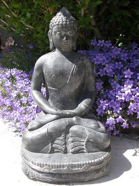 Statue en pierre - Bouddha chinois