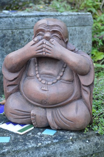 Bouddha ne rien dire de mal 22cm