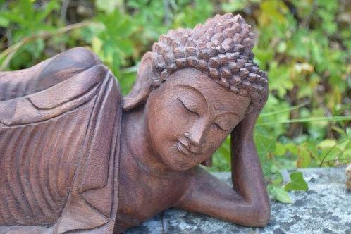 Sculpture Bouddha couché