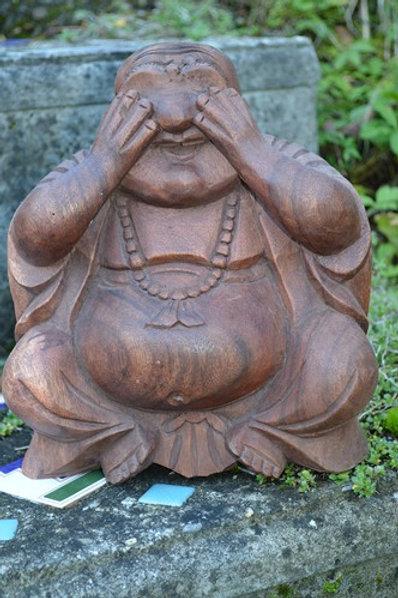 Bouddha ne rien voir de mal 22cm