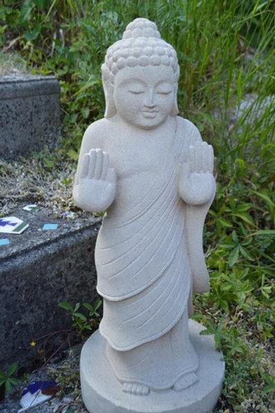 Statue Bouddha 50cm / Pierre Blanche