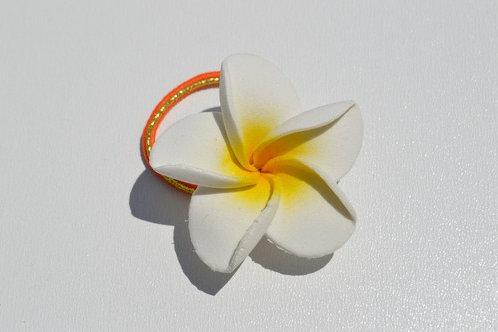 Petite fleur de frangipanier (élastique)