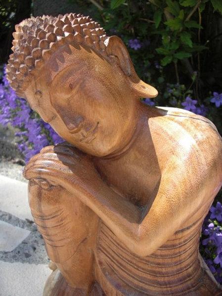 Sculpture Bouddha rêveur 33cm
