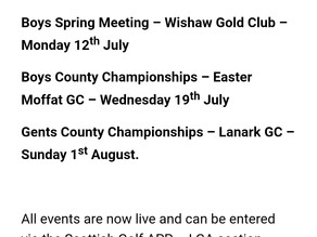 Up and coming Lanarkshire events