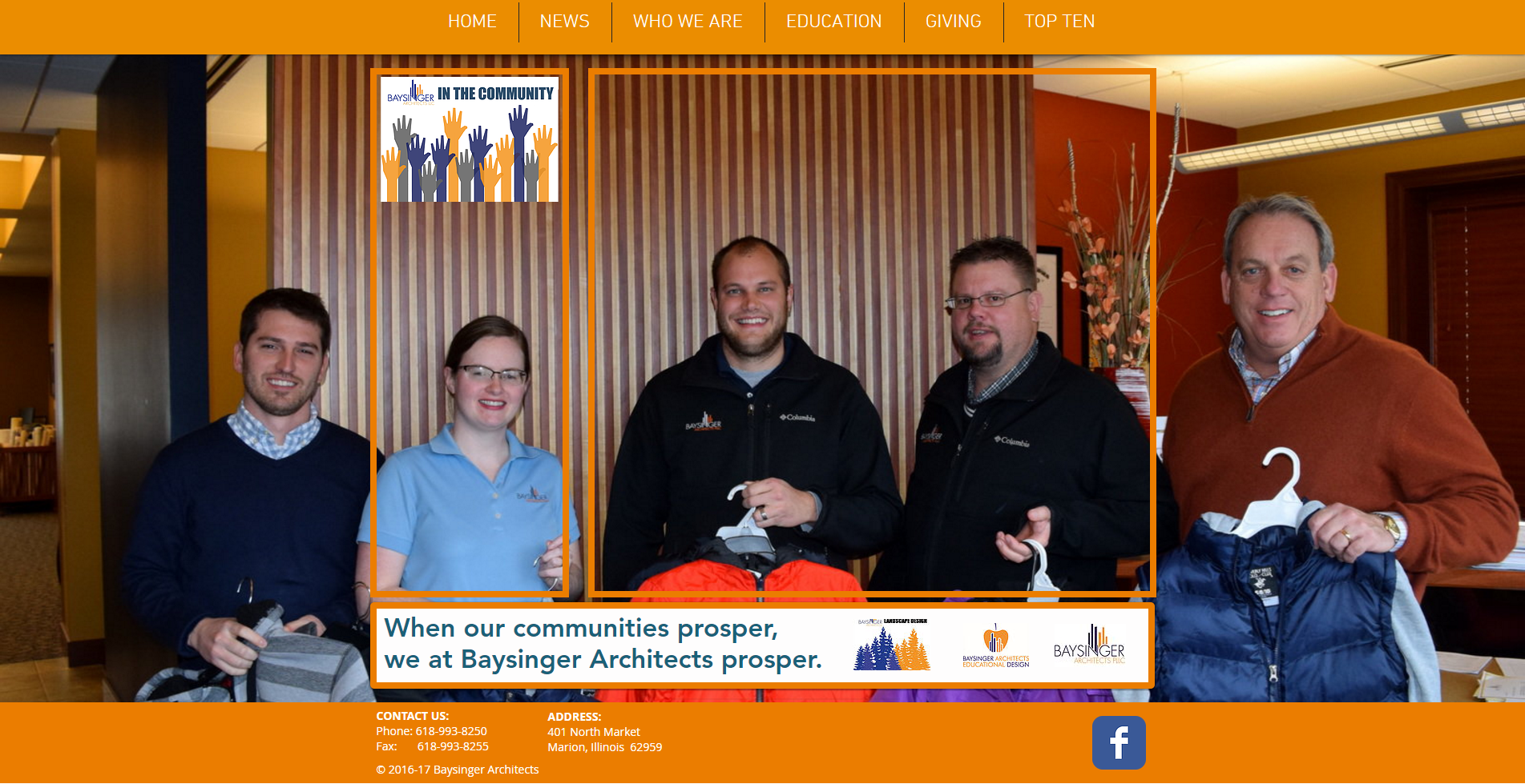 Baysinger Architects in the Community