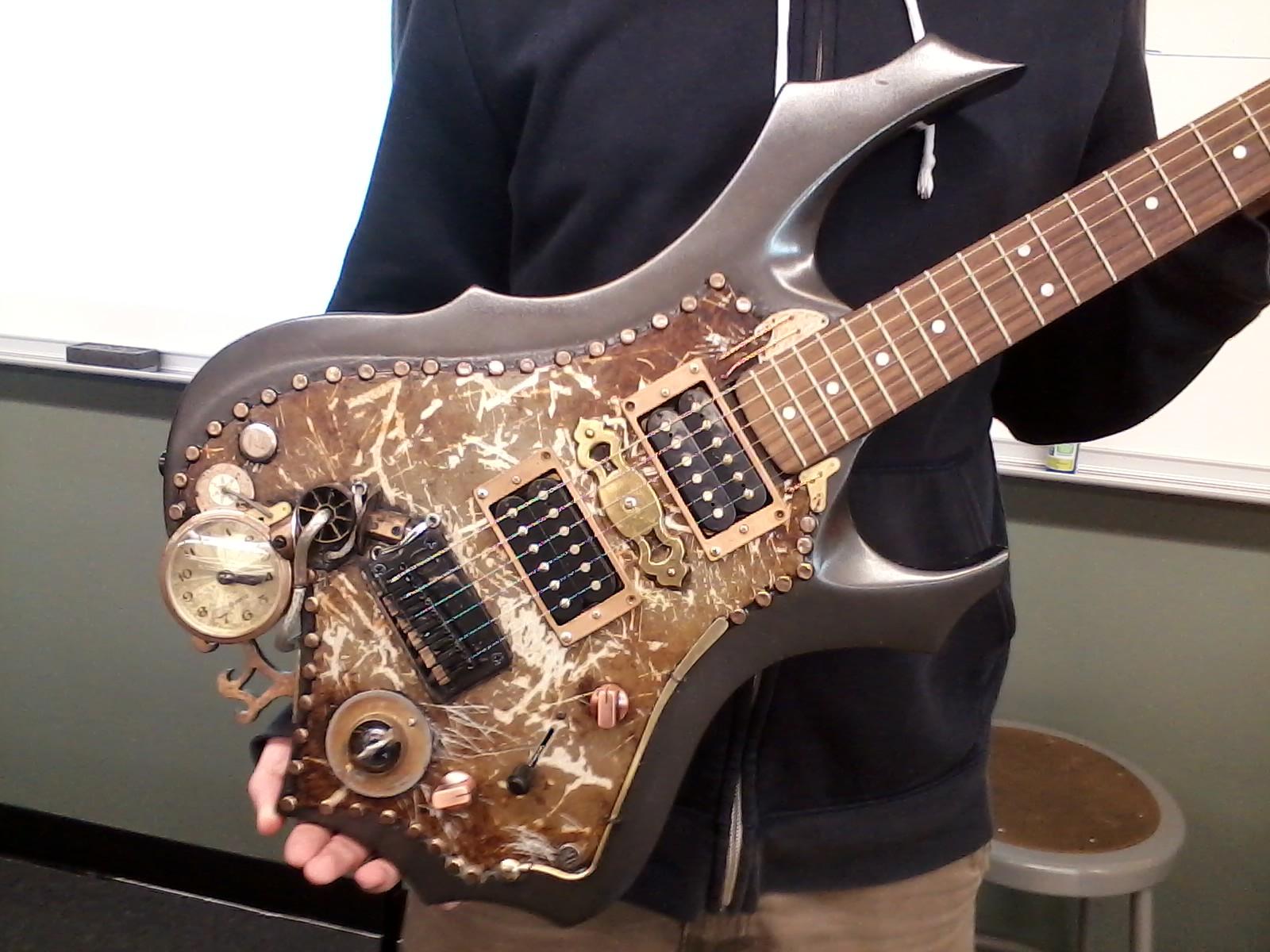 RoboRams SteamPunk Guitar