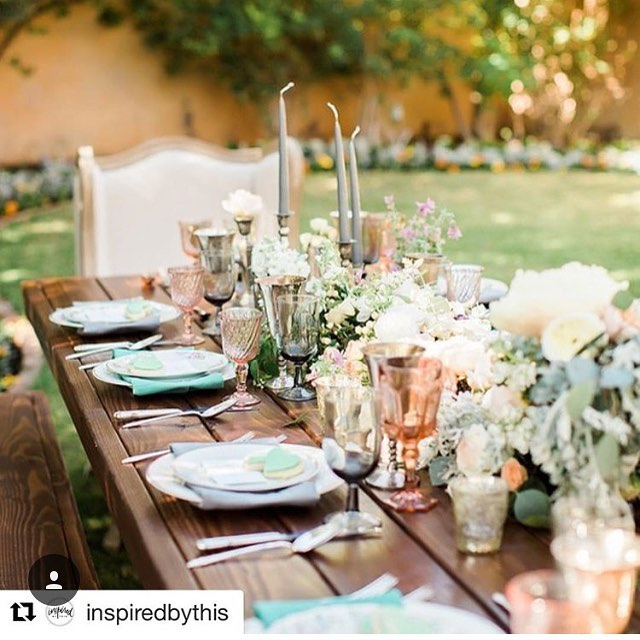 Our tables were featured in _inspiredbythis !! Pic credit_ _jessicaqphoto floral and design by_ _blo