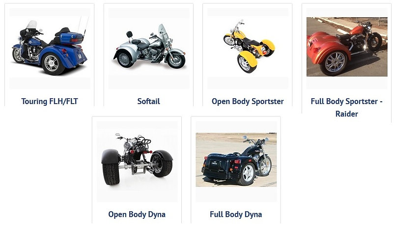 Harley Davidson Champion Trike Kits