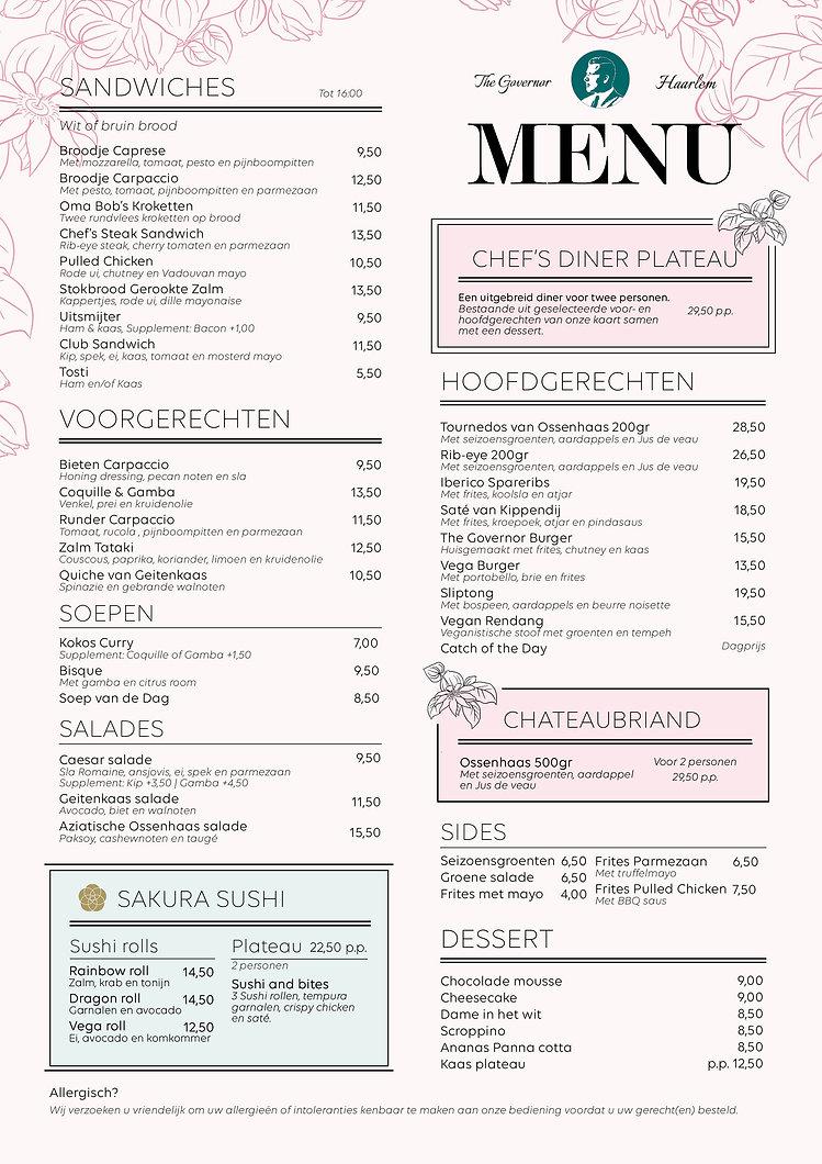 Menukaart - The Governor - Nederland - opening juni.jpg
