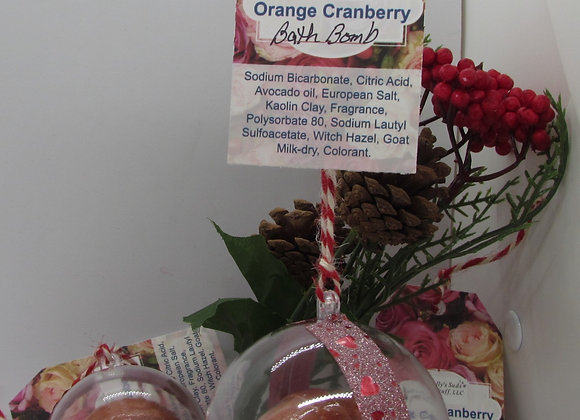 Orange/Crandberry Ornament Bath Bomb