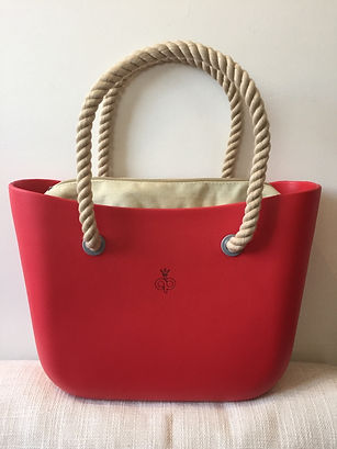 Cartera Red & Beige