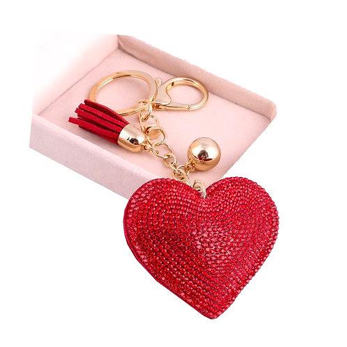Llavero Corazón - Red
