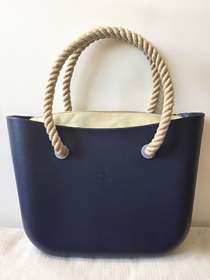 Cartera Navy Blue & Beige