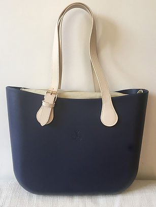 Cartera Navy Blue & Caramel
