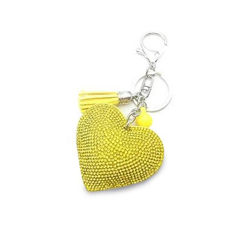 Llavero Corazón - Yellow