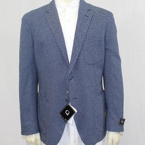 Flynt Blue Cotton Herringbone 44 Regular