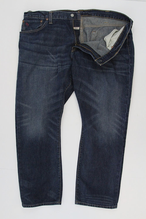 Ralph Lauren Denim Blue Dark Finish Hampton Straight