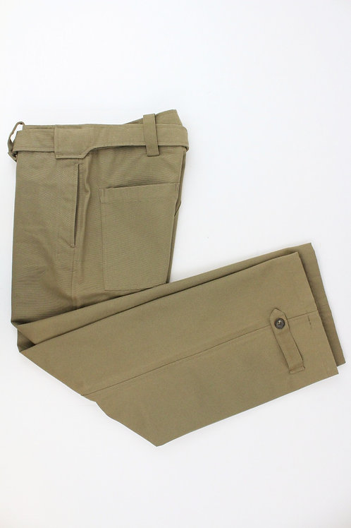 Gucci Army Green Canvas Pant Flare Leg w/Epaulet Detail at Bottom 35 x 31