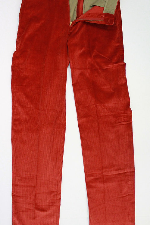 Bills Khakis Burnt Orange Flat Front Corduroy 34 x 34