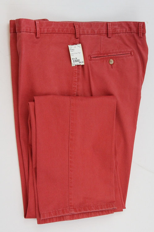 Peter Millar Tangerine Cotton Chino Plain Front 38 x 36