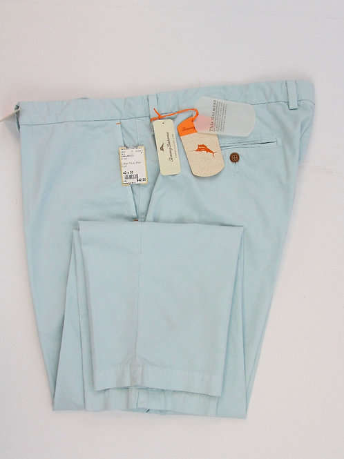 Tommy Bahama Lt Blue Cotton Chino Plain Front 42 x 30