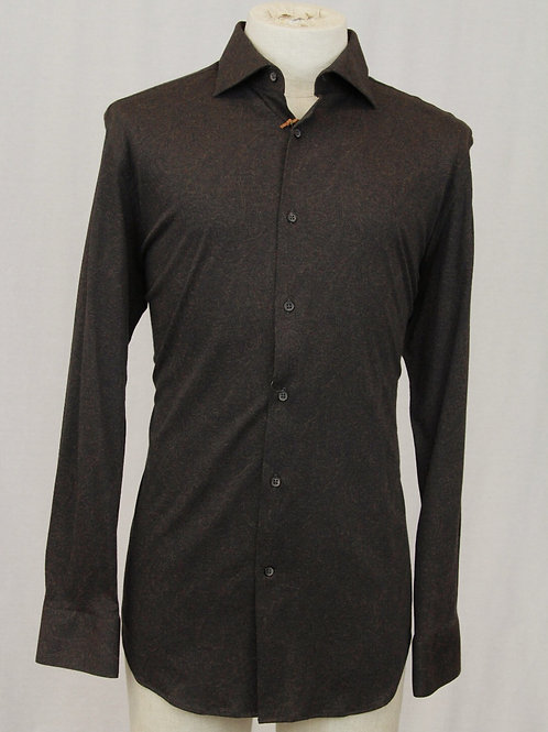Circle of Gentlemen Brown Shirt w/Tone on Tone Paisley Medium NEW w/TAGS