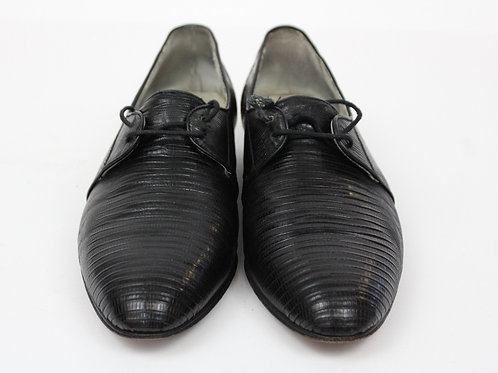 Giorgio Brutini Black Lizard Oxford 9.5