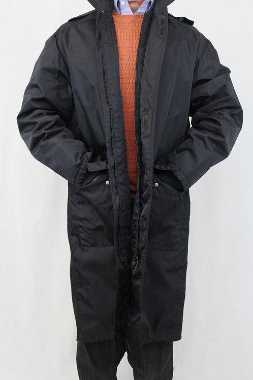 Prada Black Nylon 3/4 Length Top Coat Medium