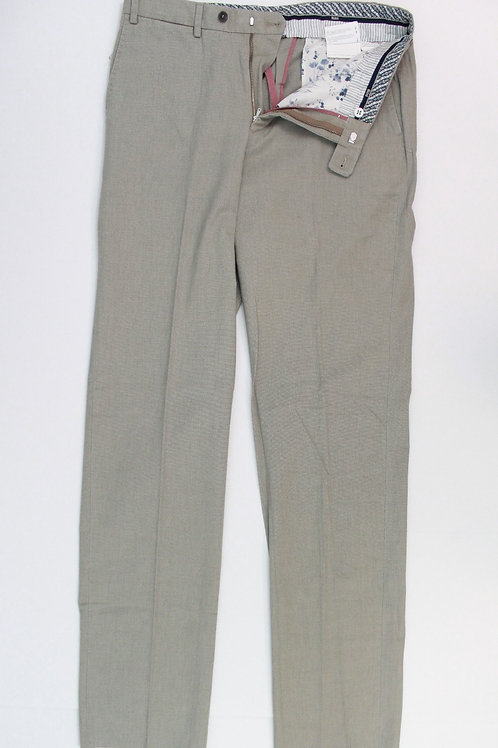 Hilti Grey Flat Front Cotton Chino