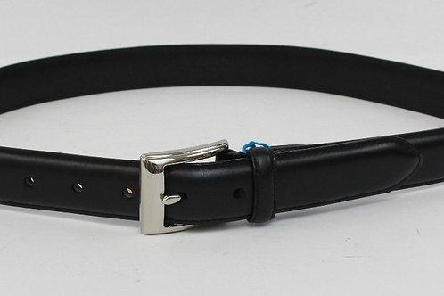 Ralph Lauren Black Belt w/Chrome Buckle 34