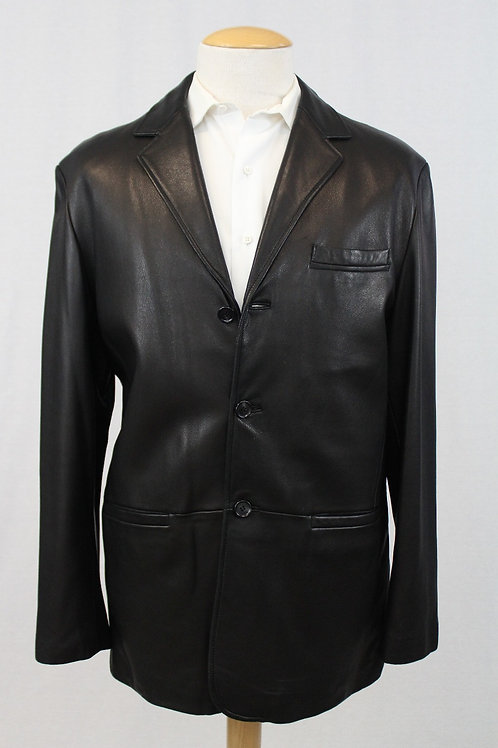 Reilly Olmes Black Leather Jacket X-Large