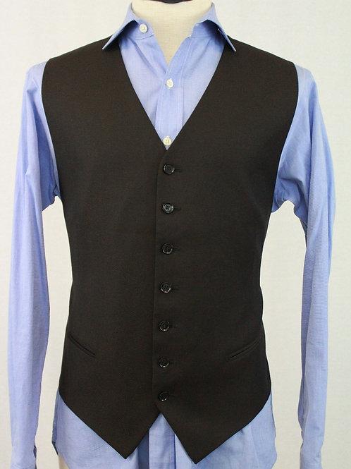 Pal Zileri Brown Wool Vest w/Muted Stripe 46 Regular