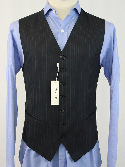 Pal Zileri Navy Wool Vest w/Pinstripe 42 Regular