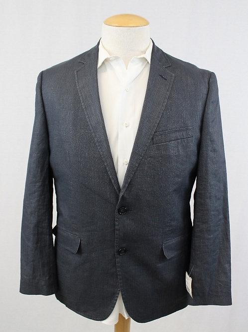 Daniel Hechter Blue Linen Solid 44 Regular