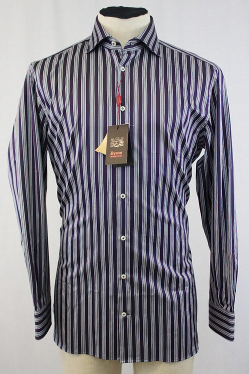Byron British Styles Purple w/Blue Stripes