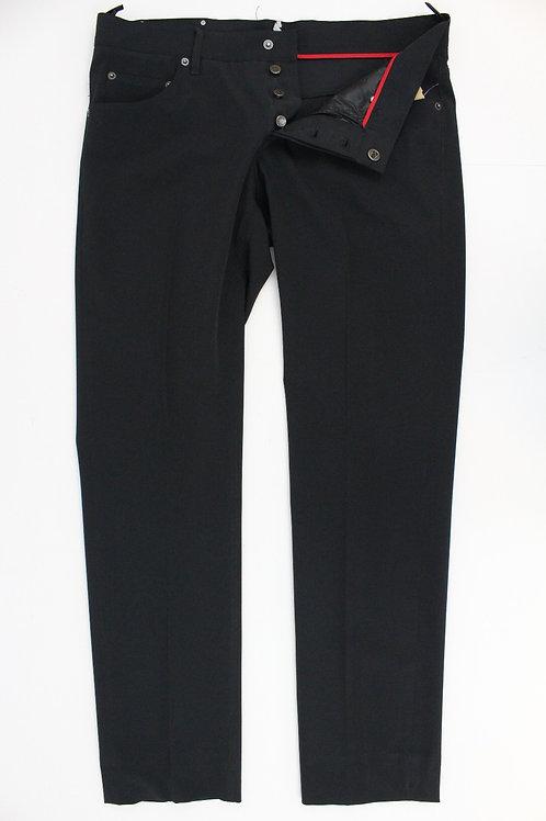 Prada Black Nylon Pants w/Button Fly 36 x 31