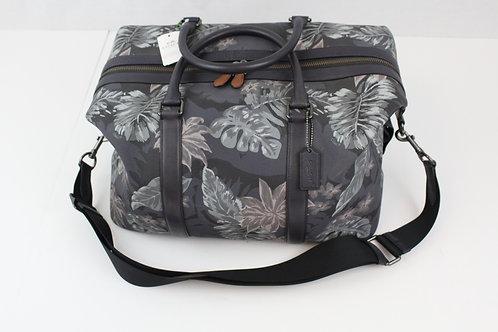 Coach, Grey, Explorer Bag w/Navy Trim & Hawaiian Palm Print
