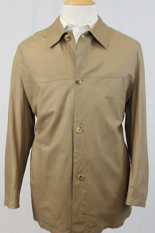 Bruno Magli Tan Leather Jacket w/4 Button Front