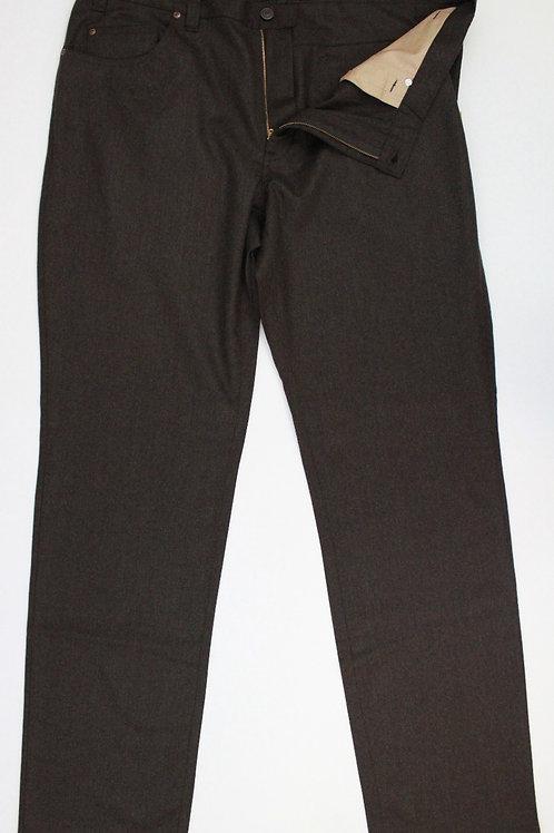 Corbin Chocolate Wool Slacks Flat Front 40 x 34
