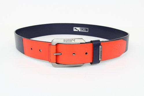 Puma, Cobalt, 1/2' Wide Cobalt/Orange Leather Sport Belt 36