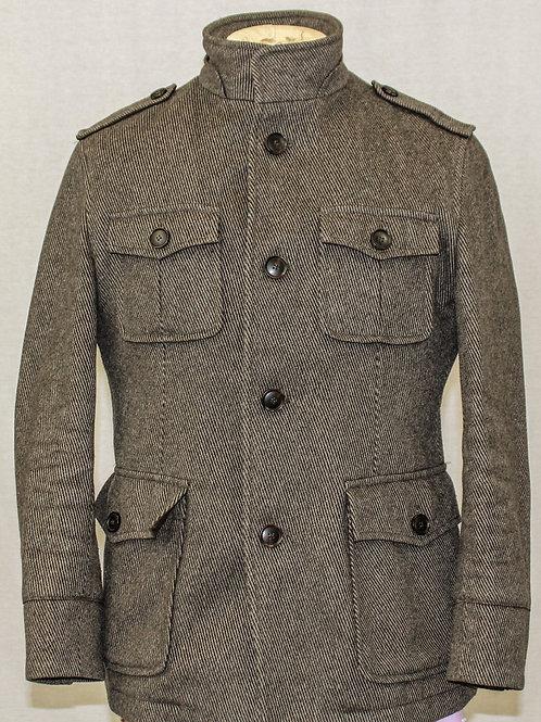Hugo Boss Outerwear Wool/Cashmere Blend w/Rabbit Fur Lining 38 Regular