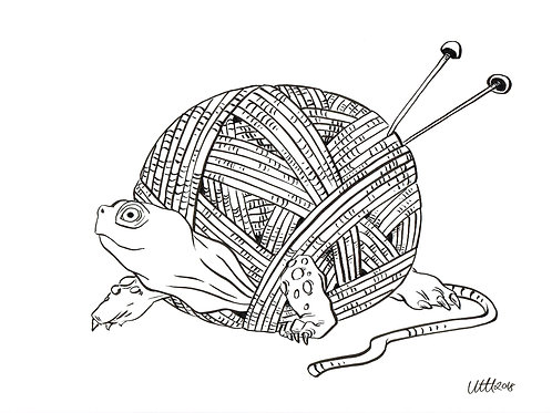 Knitting Turtle