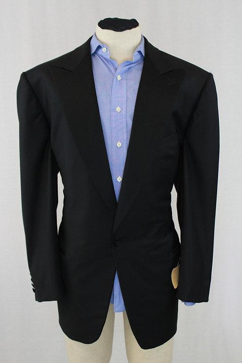Ermenegildo Zegna Black Tuxedo, Single Breasted/Button 48 Long