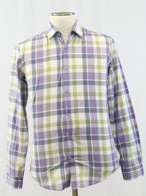 Hugo Boss, Lavender, Multi Colored Check, Medium