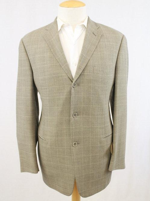 Vestimenta Tan Wool Micro Houndstooth 44 Long
