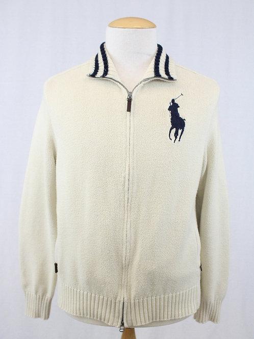 Ralph Lauren Cream Zip Sweater XL