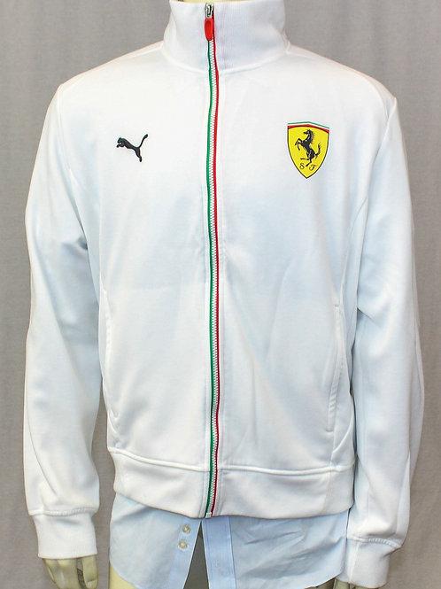 Puma White Fleece Zip Front Ferrari XL