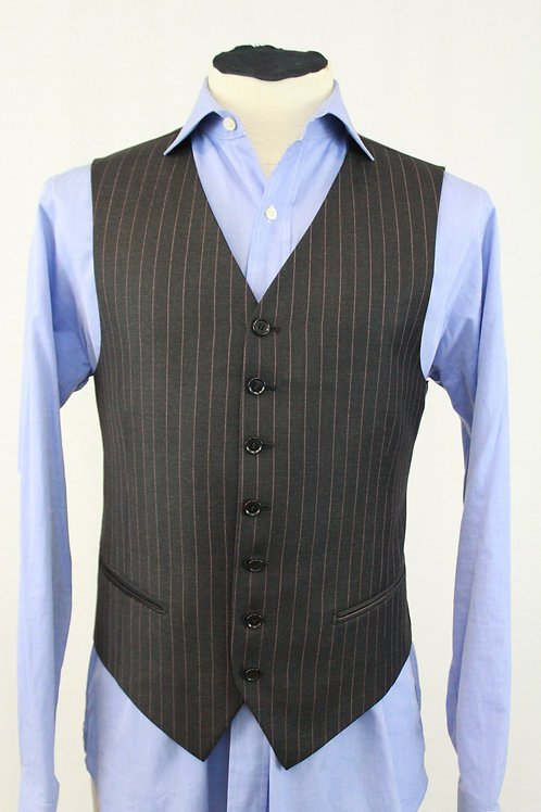 Pal Zileri Wool Vest w/Pink Pinstripes 40 Regular