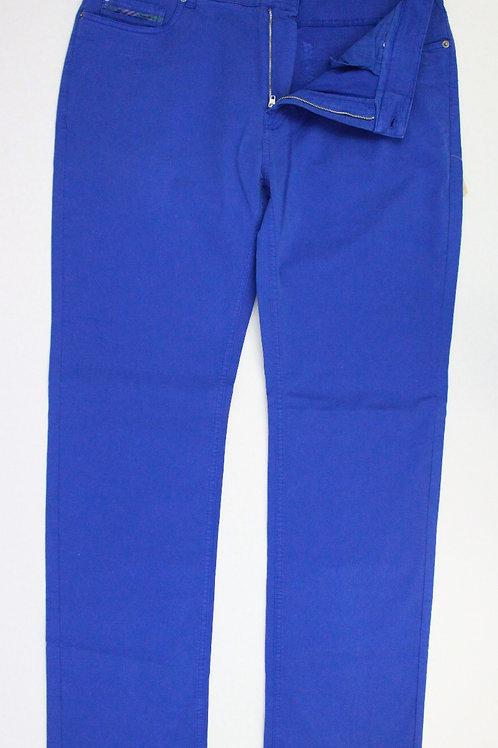 Robert Talbott Royal Blue, Flat Front Jeans 38 x 34