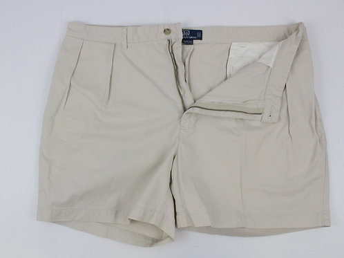 Ralph Lauren Cream Chino Shorts w/Pleated Front 42